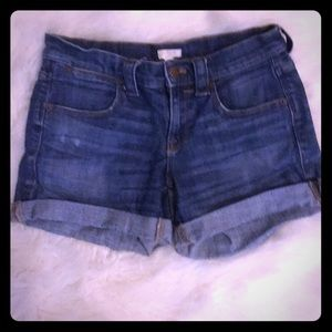 Jcrew Cuffed Denim Shorts Size 25